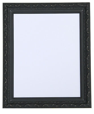 Vintage Ornate Shabby Chic White and Black Picture Photo Frames New stand Hang