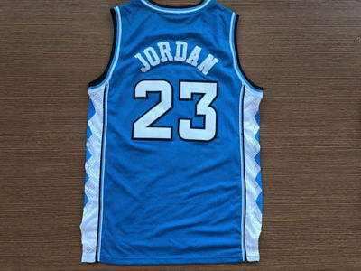 Michael #23 Jordan College Basketball Jerseys North Carolina Blue Stitched Name