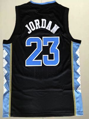 #23 Michael Jordan College Basketball Jerseys North Carolina  Black Stitched