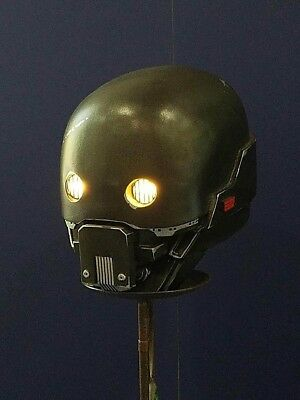 Star wars prop Rogue One K-2SO Head w/ light up eyes