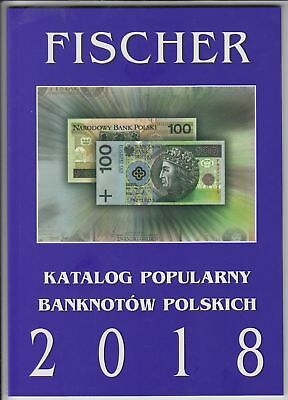 Catalog of polish banknotes - Fischer - 2018 NEW polish text