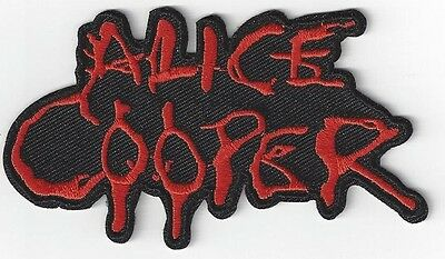 4 INCH ALICE COOPER  IRONON PATCH BUY 2 GET 3 of these