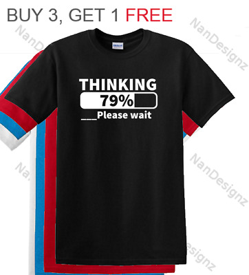 Thinking Patient Sarcastic Cool Graphic Adult Humor Funny Computer Gift T Shirt