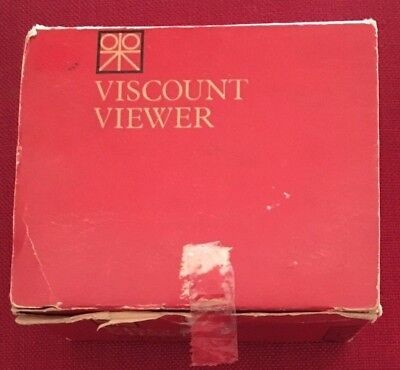 Vintage Paterson Viscount 35mm Slide Viewer With Box, Instructions & Batteries