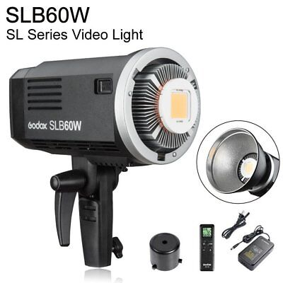Godox SLB60W 5600K Portable Outdoor Continuous LED Video Light Lamp With Battery