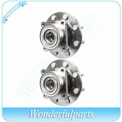 Both (2) New Front Wheel Hub Bearing Assembly Fits Chevrolet GMC W/ABS 8 Lug