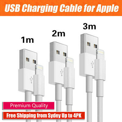 1m 2m 3m USB Lightning Data Charging Cable for Genuine Apple iPhone 6 7 8 X iPad