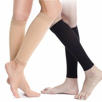 f3f9764c0a 2x Calf Compression Sleeve Leg Socks Shin Splint Varicose Veins Recovery  Support