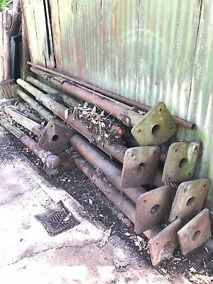 Long Reclaimed Vintage Cast Iron Cart Shed Pillar Post Victorian c1880 stables