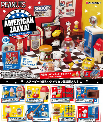 SNOOPY'S AMERICAN ZAKKA! All 8 sets from Japan Re-Ment  SALE NEW