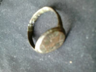Old ancient artifact  ring ANTIQUE  ROMAN EMPIRE bronze superb