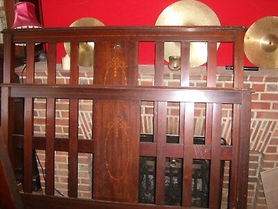 Edwardian Inlaid Mahogany Double Bedstead