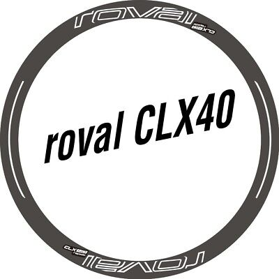 Two Wheel Set Stickers for Roval CLX 40 CLX40 Rim / Disc Road Bike Bicycle Decal