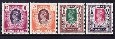 BURMA George VI 1946 SG60/3 4 high values of set - lightly mounted mint. Cat £50