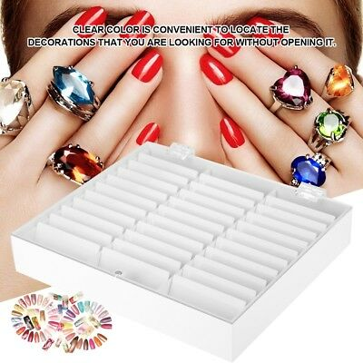 33 Grids Empty Storage Container Box Case for Nail Art Tips Rhinestone Gems
