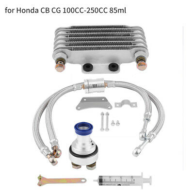 Engine Oil Coolers Oil Cooling Radiators System for Honda CB CG 100CC-250CC 85ml