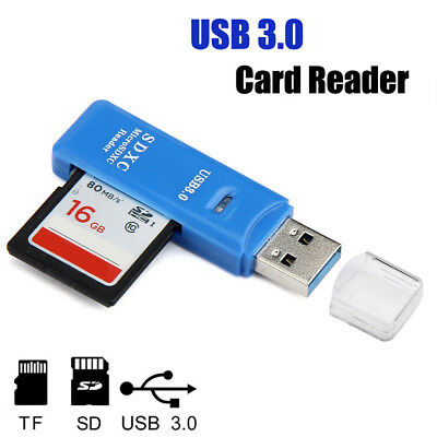 5Gbps Super Speed Mini USB 3.0 Micro SD/SDXC TF Card Reader Adapter Wholesale