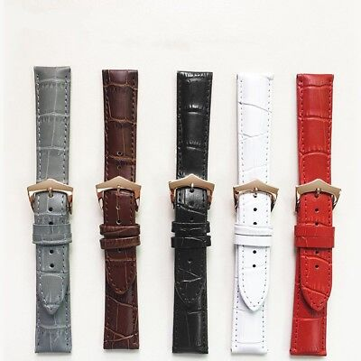 Men Women Popular Genuine Leather Watch Strap Casual Pin Buckle Wristwatch Band