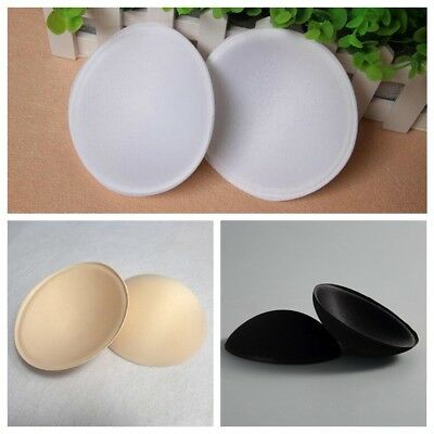 3 Pairs Insert Push Up Cotton Sponge Bra Inserts Removeable Bra Pads Swimsuit