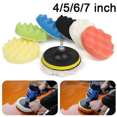 "5 pack 5"" 6"" 7"" Buffing pads Sponge Polishing Pad Kit For Car Polisher"