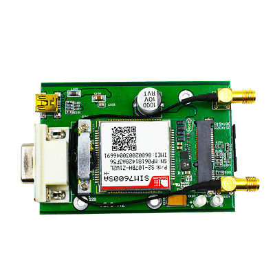 LTE CAT4 4G GSM GNSS SIM7600E PCIE to RS232 DB9 mini USB interface