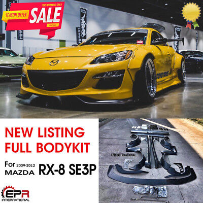 FRP Fiber Glass Wide Body Full Body Kits For 2009-2012 Mazda RX-8 SE3P RB Style