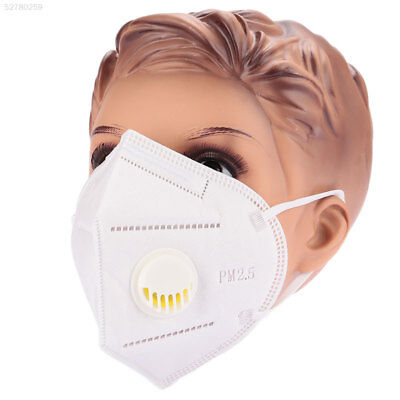 11AD White Anti-Dust Mask Gas Filter Cycling Breathable Head Respirator