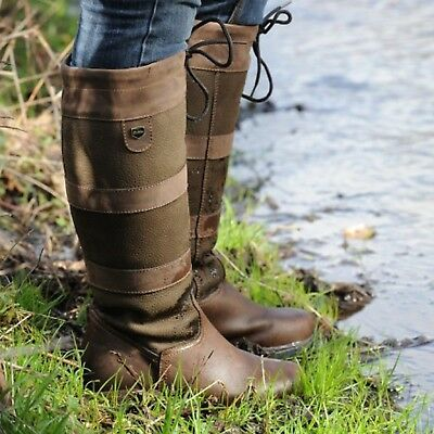 Dublin River Boots Waterproof Standard Horse Riding Country Boot Brown