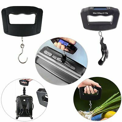 Portable 50kg/10g LCD Digital Hanging Hook Belt Electronic Luggage Scale Weight