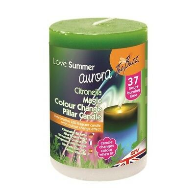 Citronella LED Colour-change Candle By The Buzz