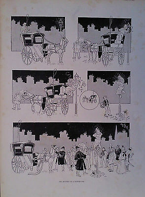 1893 Print The Mystery Of A Hansom Car Signed Rene Bull - The Granville Hotel