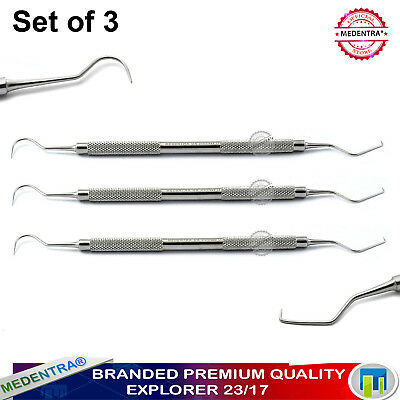 Endodontic Double Ended 23/17A Explorers Dentistry Dental Examination Probes CE