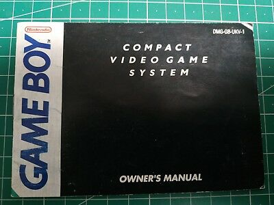 Nintendo Gameboy Compact Video Game System Manual Free Postage DMG-GB-UKV-1