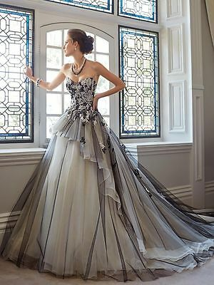 Luxury Womens Wedding Dress Bridal Gown Ball Party Prom Pageant Plus-Size Custom