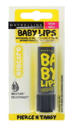MAYBELLINE Baby Lips Electro  Lip Balm Fierce N Tangy  - Sealed  On A Card