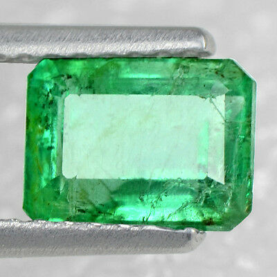 1.06 Cts Natural Top Green Emerald Loose Gemstone Octagon Cut Untreated