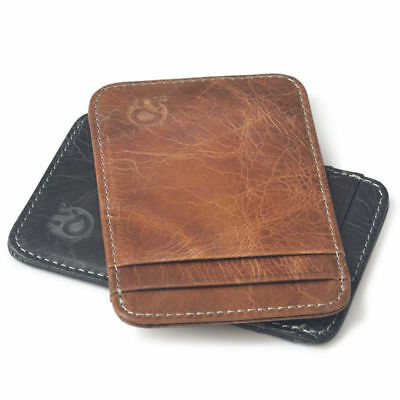 Wallet Men s Thin Slim Purse Personalized Genuine Leather ID Credit Card  Holder 3b2e67b018