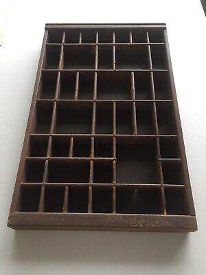 Printers Type Set Cabinet Drawer Wood Tray-Reproduction. Nice Display Item