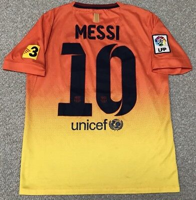 ad617f8f6 Nike Lionel Messi Barcelona 2012-13 Away Jersey Youth Large L Orange Yellow  FCB