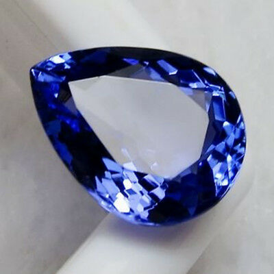 Large 5.38Ct Top Blue Tanzanite Unheated 9X11Mm Pear Shape Aaaa+ Loose Gems