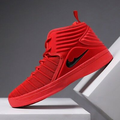 Men's Retro Basketball Shoes Big Kids Youth Sports Sneakers Red Athletic Team