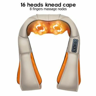 Massager of Neck Kneading Shiatsu Back Shoulder Massager Pain Relief Home Office