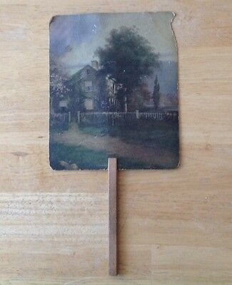 Antique Mercersburg Pa Ford Lincoln Forson Advertising Paper Fan Sign Old Car