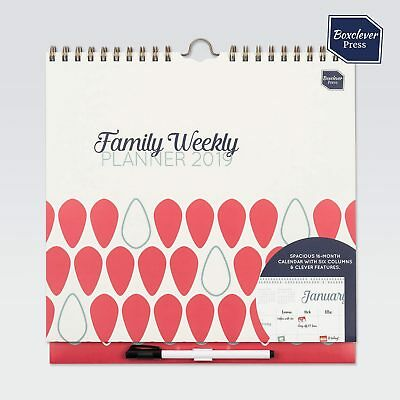 Boxclever Press Family Weekly Planner Calendar 2018 - 2019 week-to-view