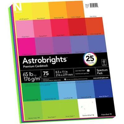 """Neenah 8.5""""x11"""" Astrobrights Spectrum Cardstock Pack 75pcs - 25 Colours"""