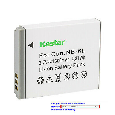 Kastar Replacement Battery for Canon NB-6L 6LH CB-2LY Canon PowerShot SD980 IS
