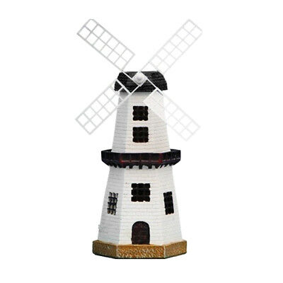 Solar Powered Led Motion Light Traditional Windmill Garden Outdoor Ornament