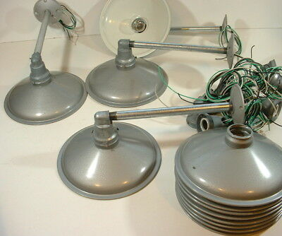 "(1) Abolite SCONCE 10"" Non-Porcelain Gray Barn Industrial Wall Light Vtg Enamel"
