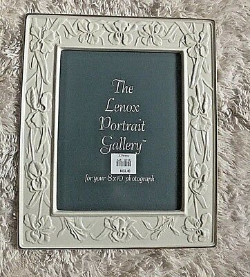 Lenox Ivory Porcelain Picture Frame with Gold Trim, 8x10 photo 10x13 frame NEW