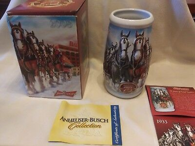 2008 Budweiser Clydesdales 75th Anniversary Holiday Stein CS695GOLD